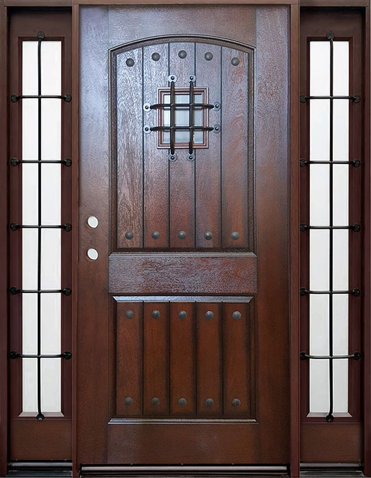 Old World Gate Keeper Fiberglass 3 0 Entry Door With Speakeasy With