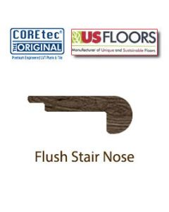 "Flush Stair Nose Molding | 50LVP504 | Clear Lake Oak COREtec 5"" Collection by US Floors®"""