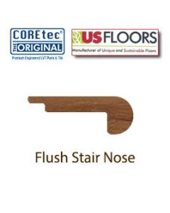 "Flush Stair Nose Molding | 50LVP508 | Red River Hickory COREtec 5"" Collection by US Floors®"""