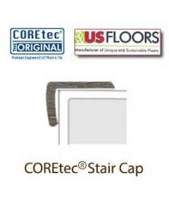 "Alabaster Oak Flush Stair Cap for 50LVP706 | Alabaster Oak COREtec 7"" Collection by US Floors"