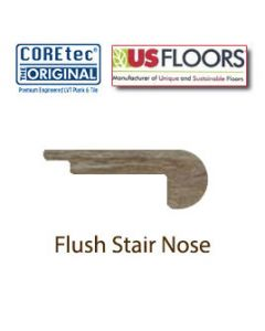 "Flush Stair Nose Molding | 50LVP707 | Blackstone Oak COREtec 7"" Collection by US Floors®"""
