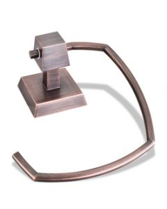 Dark Brushed Antique Copper Towel Ring