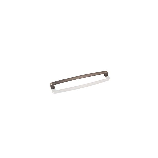 Bright Nickel Brushed with a Dull Lacquer Zinc Die Cast Plain Square Appliance Pull