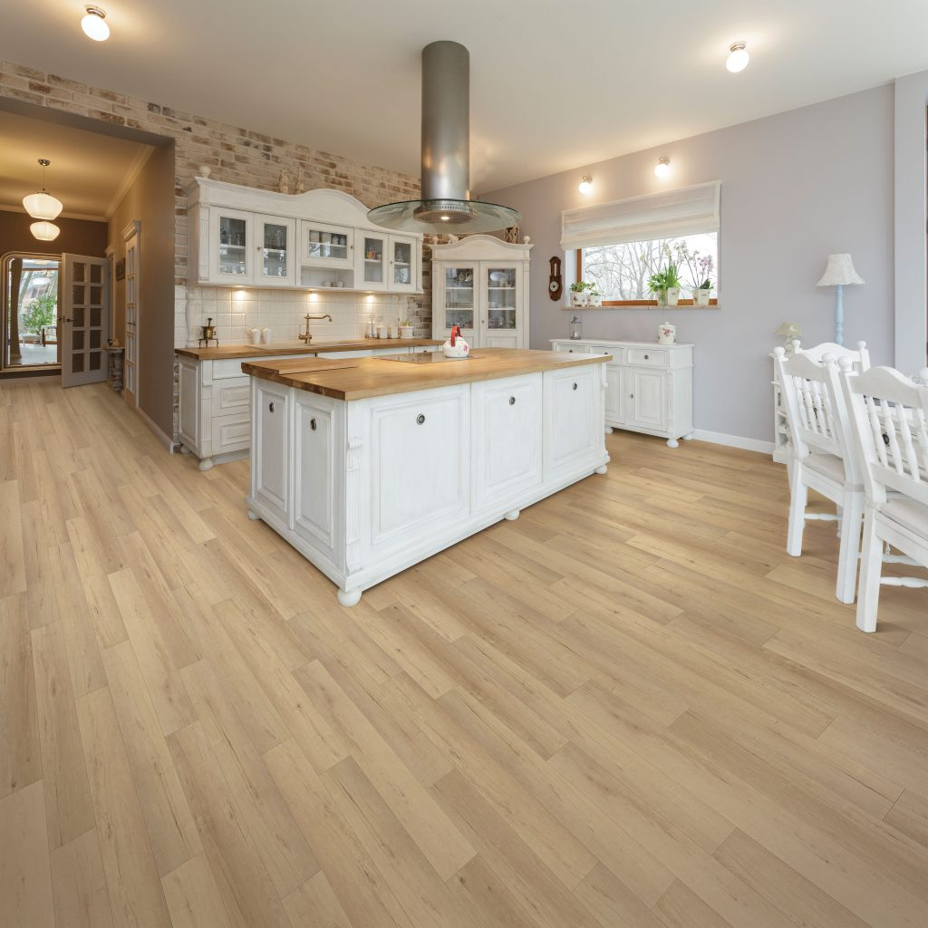 Calypso Oak floor by USFloors® from the COREtec Plus Enhanced Plank collection | SKU:50LVPE761