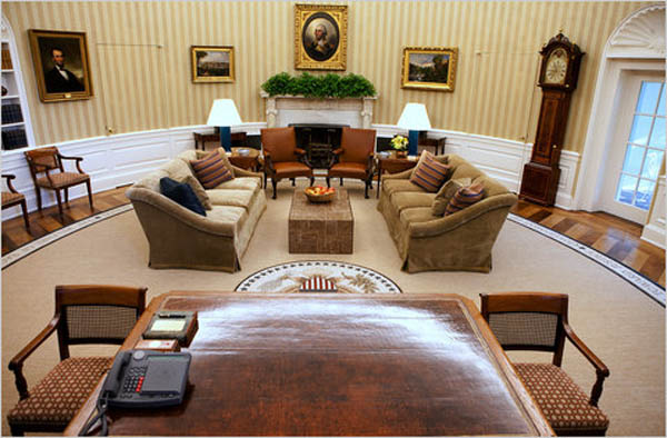 View from the Oval Office Desk