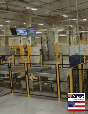 Shaw's State-of-the-Art LVT manufacturing, (Made in USA)